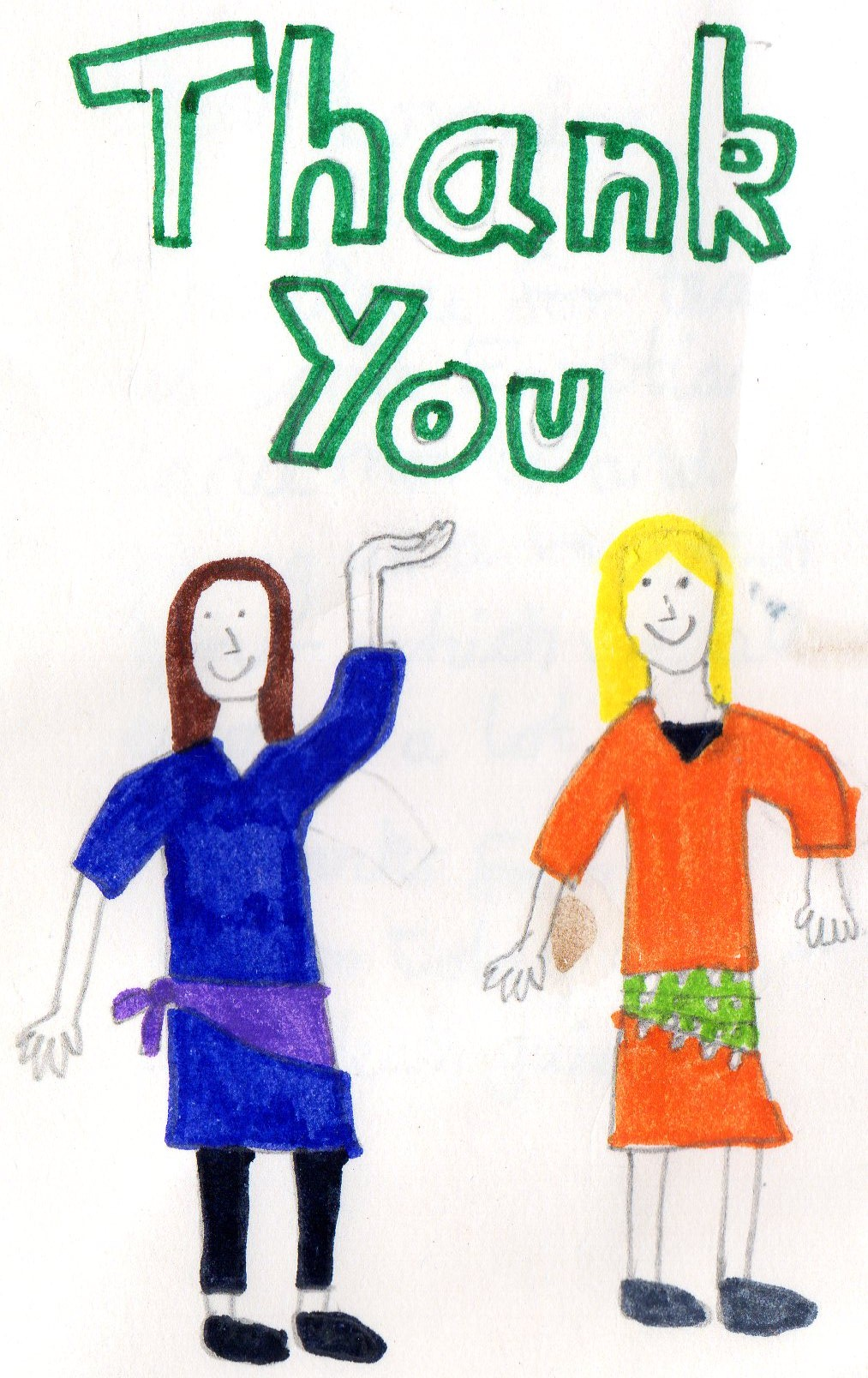 Thank you letters from school children on Ancient Egypt dance workshops