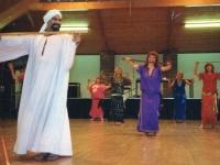 Egyptian dance troupe with ZaZa Hassan