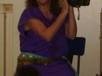 Playing Egyptian Tambourine