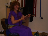 Playing Egyptian Drum