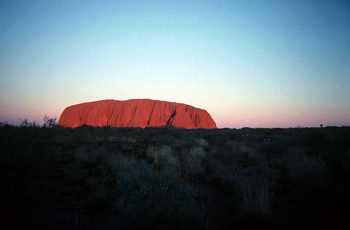 Ayres Rock Sacred to Aboriginal people
